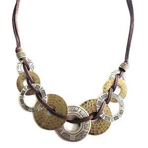 Handmade Disc Necklace